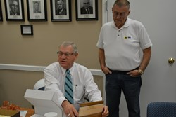 Interim exec Baird honored by KSBA Board of Directors for leading association since June 2013; new CEO begins work next week