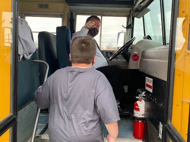 Robertson County superintendent drives bus
