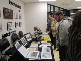 Attendees also viewed historical documents and other items that had been gathered for the event, while generations of students mingled.