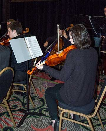 Montgomery County Schools' Fiero Strings lent an air of refinement to Saturday's luncheon session with its classical offerings.