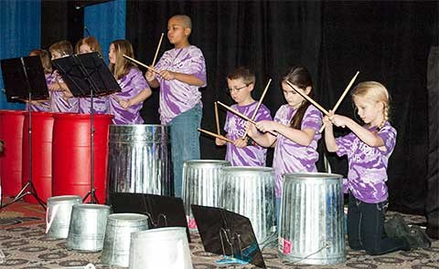 The Junkyard Hawks of Jefferson County's Hite Elementary showed that music can be found anywhere. They used trashcans, buckets, bowls and other common items to put on an impressive display of percussionist talent.