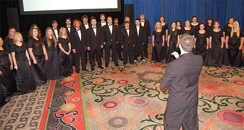 Butler County Schools' Chamber Choir helped close out this year's conference with a performance during the Sunday brunch.