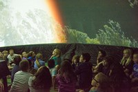"Mixing projected images with stellar diagrams backed by electronic music, one of the show's many ""Wow!"" moments was the passage of dawn over the earth. 