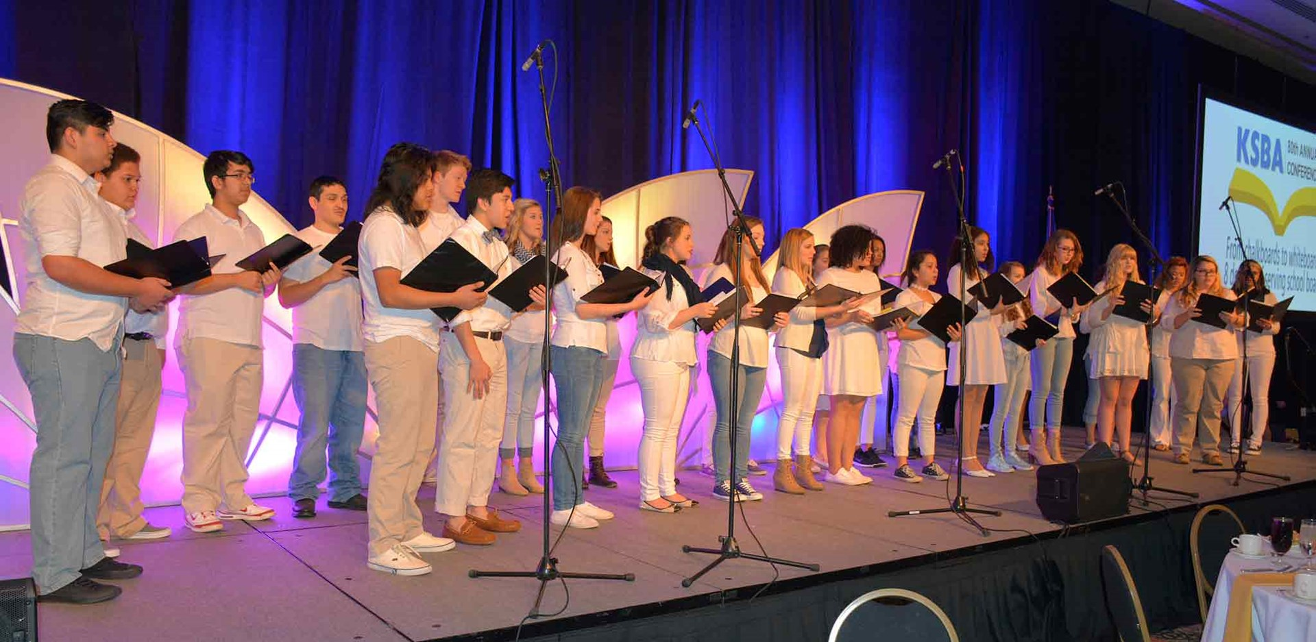 The Warren Central High School Advanced Chorus performs during Saturday's luncheon.