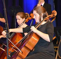 The Woodford County High School Chamber Orchestra performs during Sunday's brunch for the second straight year.