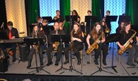 The Boyd County High School Jazz Ensemble performs during Saturday's luncheon.