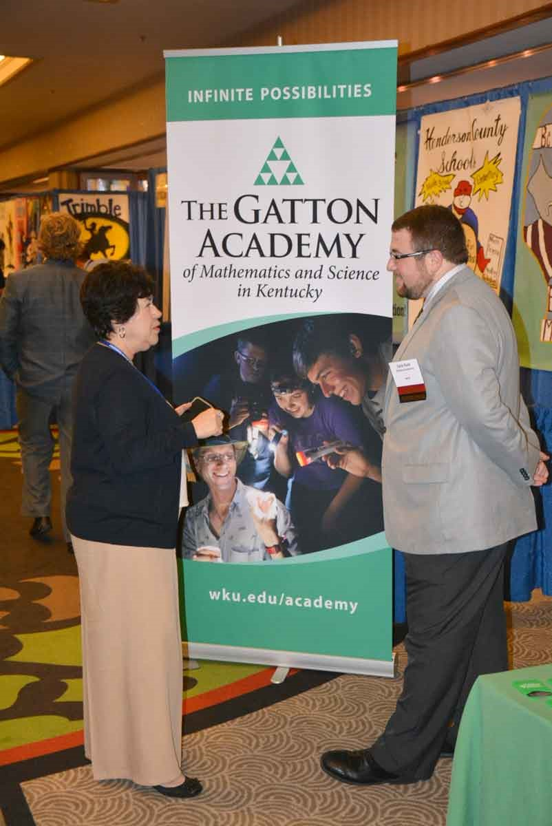 The Gatton Academy of Mathematics and Science was among the 70-plus Trade Show exhibitors, in addition to sponsoring the conference's Friday Opening Session.