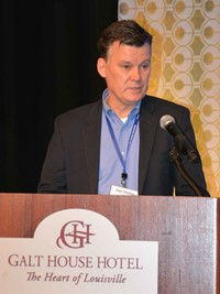 Dan Thomas of UPS outlined the company's college opportunities programs, including a new housing benefit, for the crowd at the Saturday luncheon, which it sponsored.