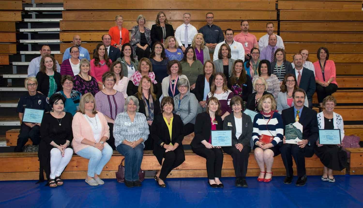 Members of the community who partner with the school district to provide early learning opportunities attended the PEAK Award ceremony and were recognized during the event for their contribution.