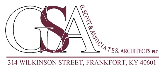 G Scott Associates Text Logo maroon