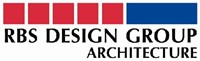 RBS Design Group Architecture text logo red and blue