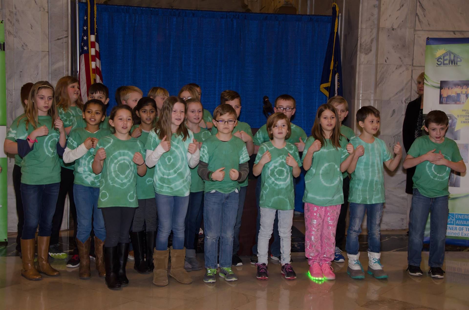 Scott County's Northern Elementary School students performing