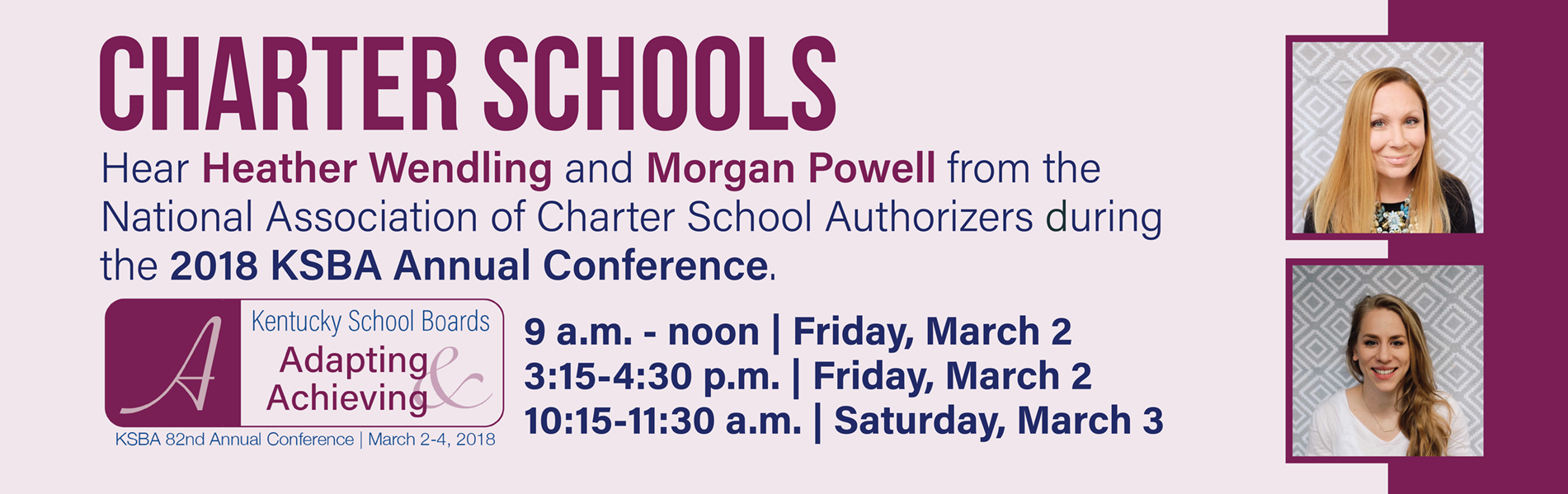 The National Association of Charter School Authorizers will present several sessions at the 2018 KSBA Annual Conference