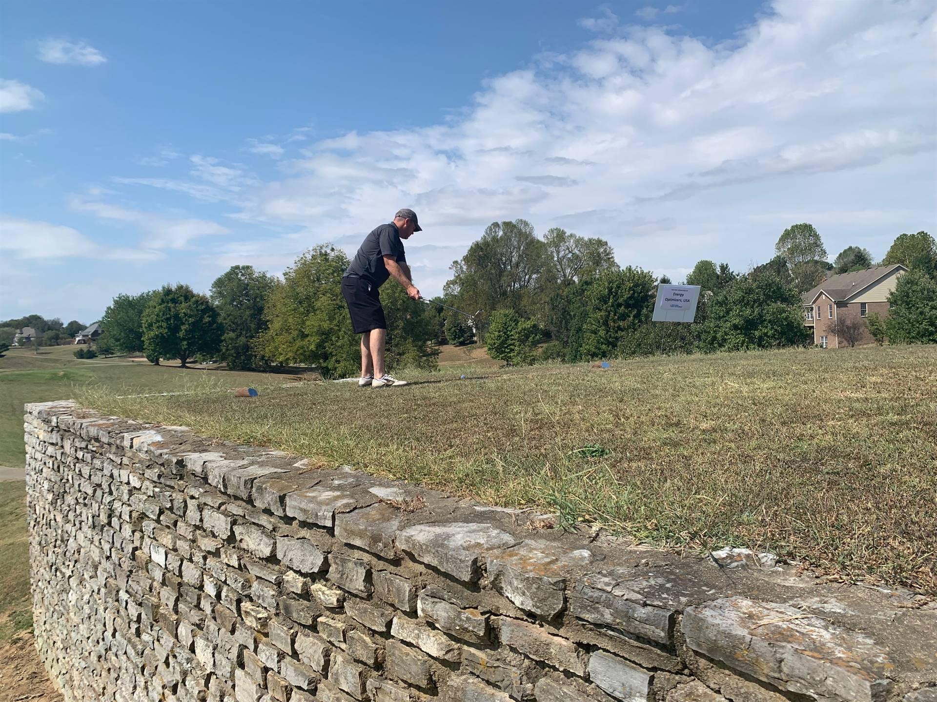 stone wall tee box