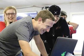 Facebook chief Mark Zuckerberg (Photo courtesy of KVEC)