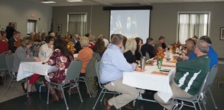 Attendees at the Bath County Schools annual Legislative Breakfast Oct. 18 benefited from some coincidental good timing as they watched the governor's press conference on pension reforms.