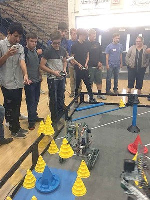 iLEAD Academy students compete in a robotics competion. (Photo courtesy of iLEAD Academy)