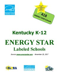 Cover for report on Kentucky's ENERGY STAR labeled schools