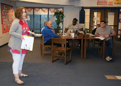 """Sunny Hardin, family resource and youth services center coordinator for Frankfort Independent, talks about building """"corrective"""" relationships with students who  have trauma in their lives."""