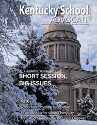 Cover of January 2019 Kentucky School Advocate magazine