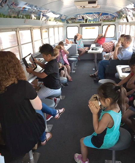 The Daviess County foundation used a donation from Specialty Foods Group to convert an old school bus into an Exploration Station which the foundation takes to neighborhoods to provide programs to combat the summer slide.