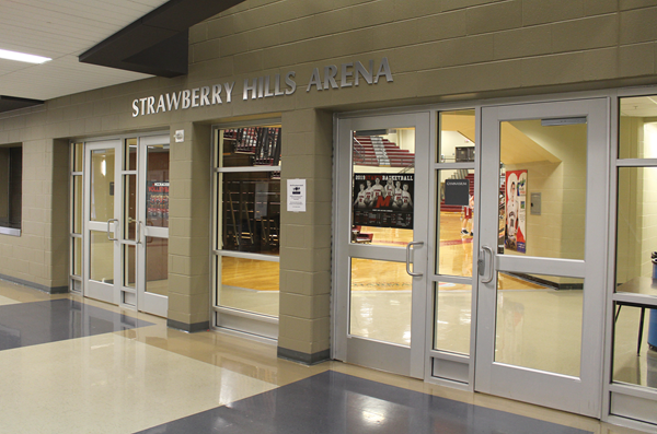 Strawberry Hills Pharmacy purchased the naming rights to McCracken County High School's gymnasium. The 10-year contract was for $200,000. (Photo courtesy of McCracken County Schools)
