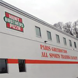 Hunt Brothers Pizza donated $250,000 to help build Paris Independent's All Sports Training Facility. The business has a distribution center in Paris which is led by CEO and President Erin Hunt Ferguson, who graduated from Paris High School in 1991.