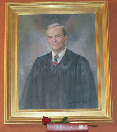 This portrait of former Kentucky Supreme Court Chief Justice Robert Stephens hangs in the Capitol.