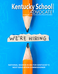 Cover of January 2020 Kentucky School Advocate magazine