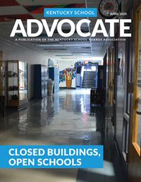 Cover of April 2020 Kentucky School Advocate magazine
