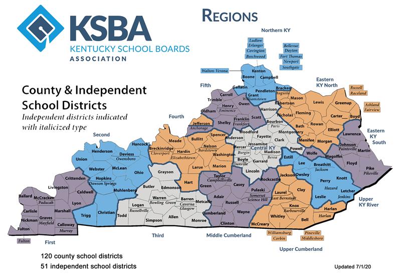 KSBA Regions Map