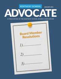 Cover of January 2021 Kentucky School Advocate magazine