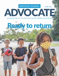 Cover of April 2021 Kentucky School Advocate magazine