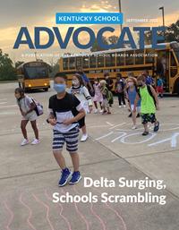 Cover of September 2021 Kentucky School Advocate magazine